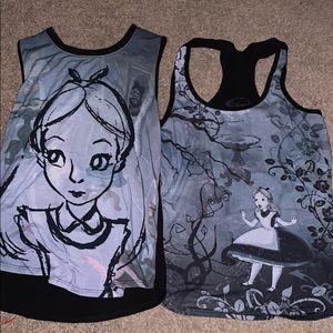 Lot of Alice in Wonderland tank tops!!